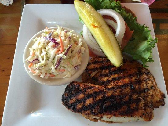 Yucatan Beach Stand Bar: Blackened tilapia sandwich