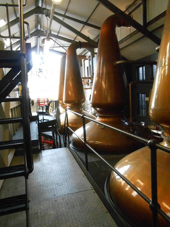 Isle of Jura Distillery: Pannorna på Jura