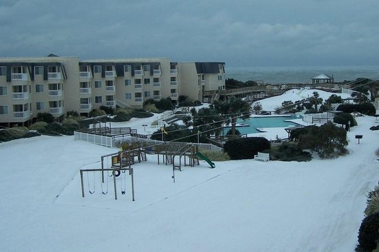 A Place at the Beach III: snow view from our room