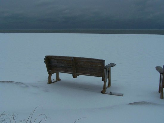 A Place at the Beach III: bench with a view