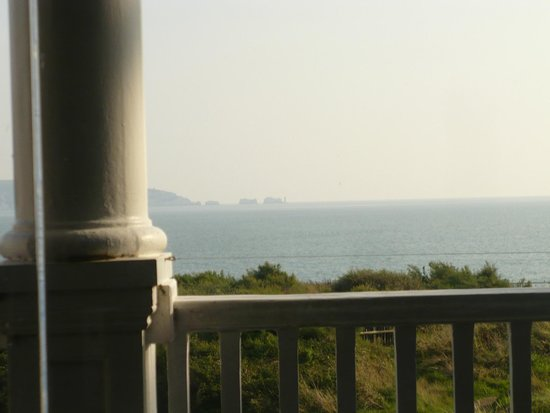 The Beach House: view from the little snug balcony.