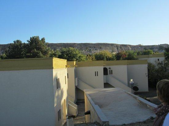 Turban Hotel Urgup: zicht vanuit het hotel op de omgeving