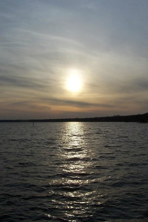 sunset over Lake Waccamaw