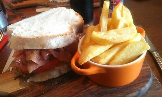 Crofter's Bistro Open Again 7th March: Delicious Sandwich