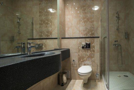 Ванная комната в отелях дизайн ванной комнаты полосами