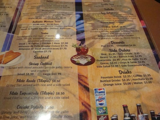 Chitos Mexican Food Menu