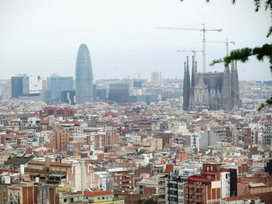 e-Bike Rent Tours : View of the city from Jardins de Turo Putxet.