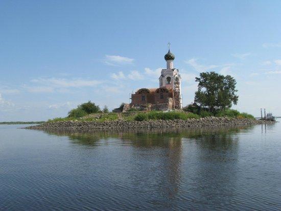 Vologda Oblast, Ρωσία: Так выглядит остров с катера