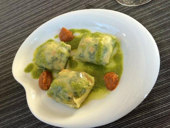 Restaurante  Mertxe: Ravioli de langostino