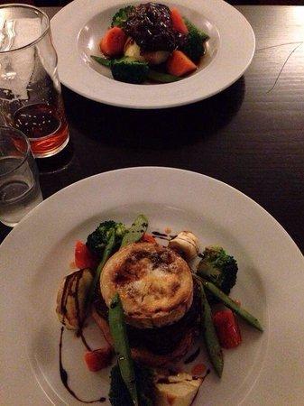 Arch Inn Restaurant: Ox cheek and goat cheese and shallot Tart Tatine