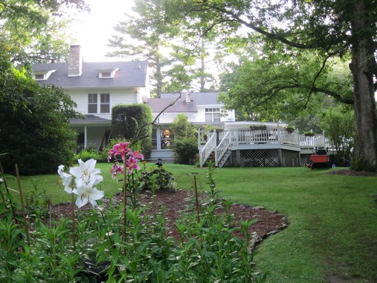 4-1/2 Street Inn Bed and Breakfast : Side view of the Inn and gardens