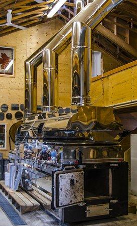 Sugarbush Hill Maple Farm: The maple wood furnace.