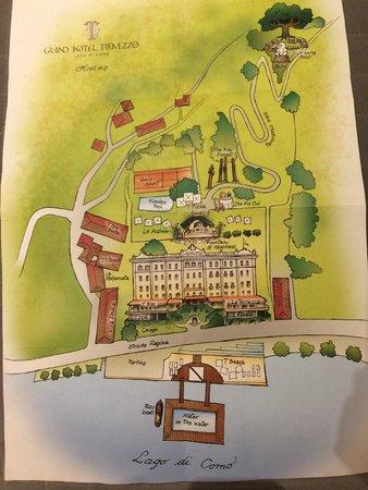 Grand Hotel Tremezzo: hotel property map