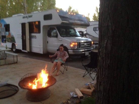 Sandusky KOA campground : Sandusky koa rv site