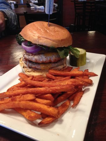 Two Stones Pub: Double Stacked Turkey Burger