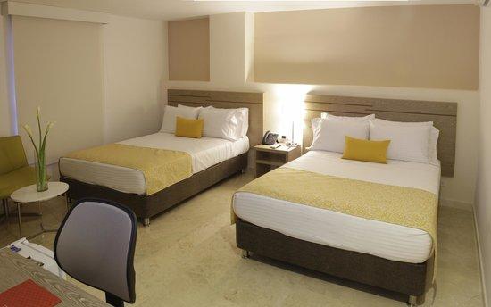 Foto de hotel ms ciudad jardin cali habitacion twin for Hotel ciudad jardin