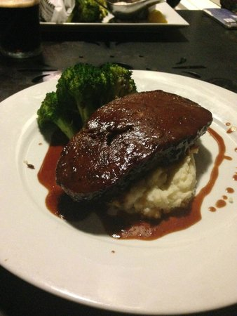 Churchill's Pub: Guiness Meatloaf. Named for the beer, not (I'm assuming) the World Record book. Or the singer.