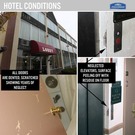 Howard Johnson Addison O'Hare Airport: Neglected hotel conditions