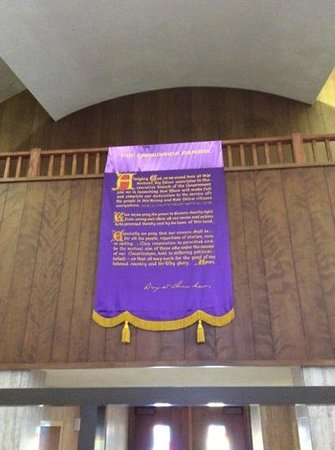 Dwight D. Eisenhower Library and Museum: The Presidents Prayer Hanging in Chapel