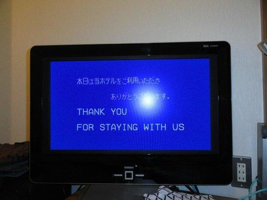 Candeo Hotels Ueno-Park : La TV agradece la estadia