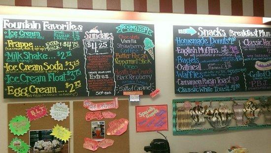 Chalkboard menu - Picture of Waltz's Soda Fountain, Damariscotta ...