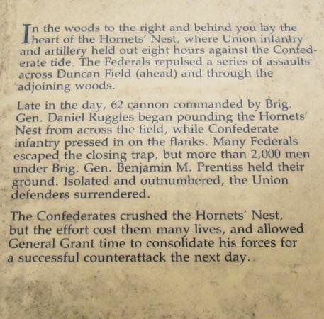 shiloh national military park: description of fighting at