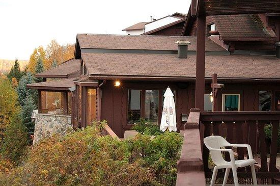 Hotel du Lac: Le restaurant face au Lac Tremblant