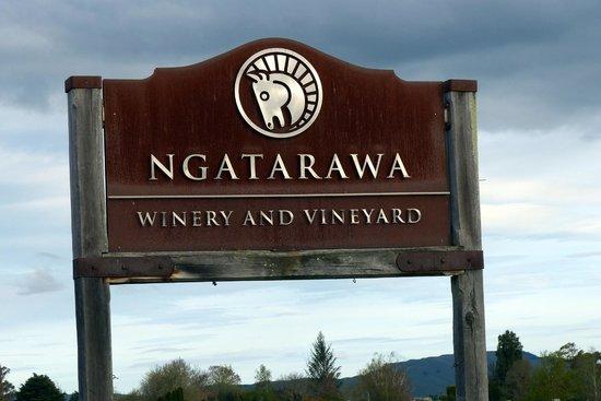 Ngatarawa Winery sign