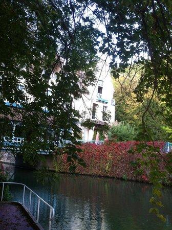 Moulin de Connelles: View through the trees.