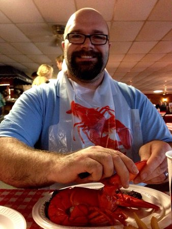 Newick's Lobster House: That smile says it all!