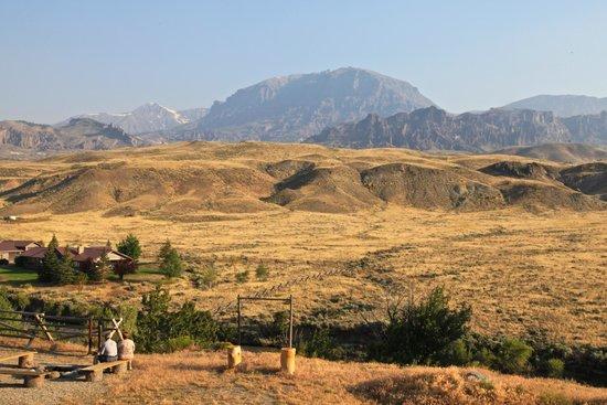 Wapiti Lodge : View from Wapity Lodge backyard and River House, Wyoming