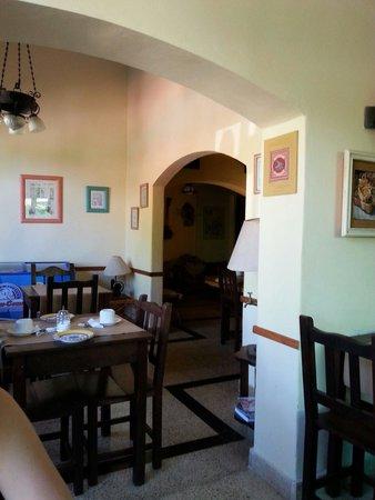 Hosteria Plaza: Sector para desayunar
