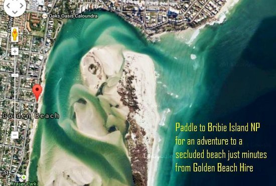 Golden Beach Hire: Birdseye view of Bribie Island NP