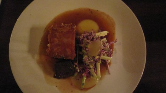 Pravda Cafe: $34 pork belly!