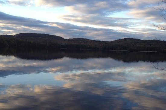 Harrison, ME: Sky reflection on Crystal Lake