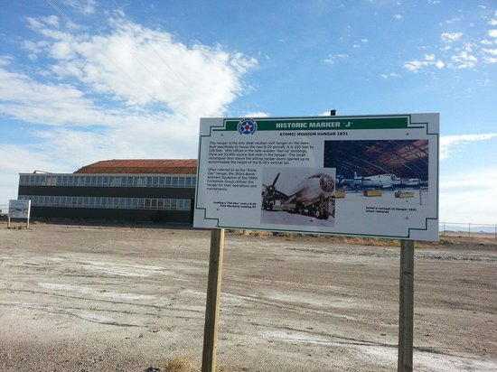 Historic Wendover Airfield : The Hanger Where the Enola Gay was Housed.
