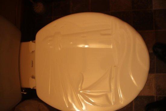 Motel du Haut Phare : il y même un phare sur l'abattant des toilettes