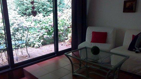 Hôtel Restaurant Château Landsberg : Chambre Salon avec terrasse nature