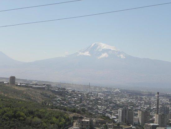 View of Mount Ararat from Hotel Regineh  |  Norki Ayginer St, Yerevan, Armenia
