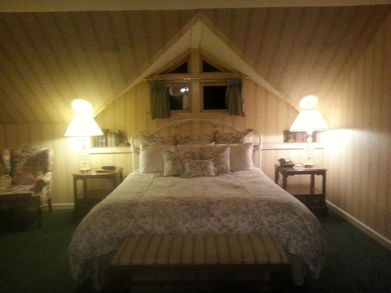 Hotel La Rose : The oh-so-comfortable bed, skylight overhead