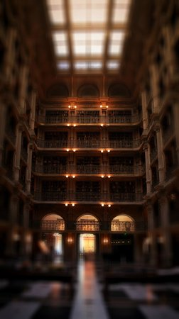 Peabody Library: what you see when you walk in