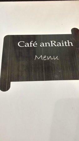 Cafe Anraith: Menu