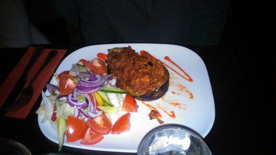 Biblos: aubergine and couscous