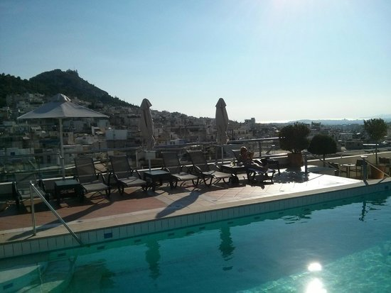 Athens Zafolia Hotel: View from the rooftop