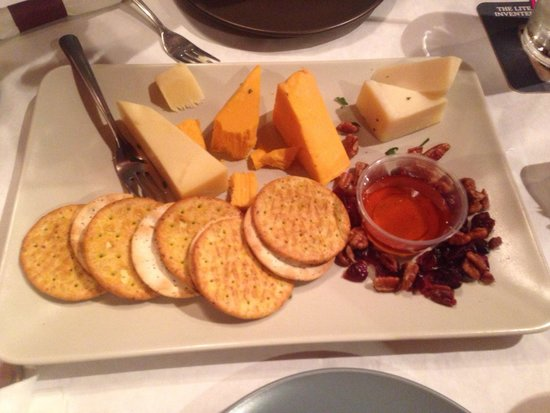 Swingin' Door Exchange: Cheese Please... Local cheeses, honey and walnuts.  The aged cheddar was exceptional.