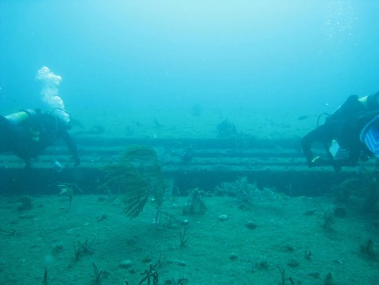 Scubatyme Dive Charters: Paul & Randall on the barge wreck