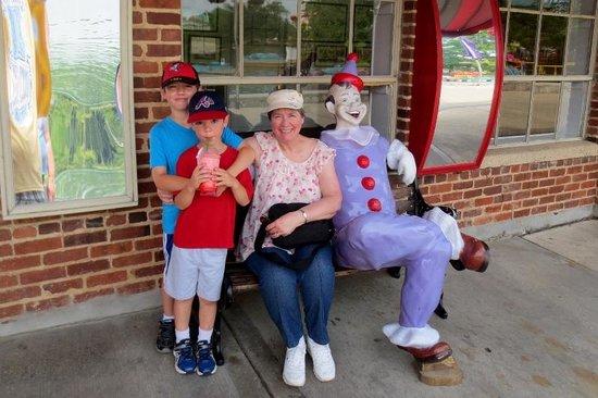 Lake Winnie Amusement Park: mamaw with the boys