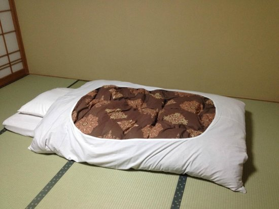 Yamadaya Hotel: Futon Bed