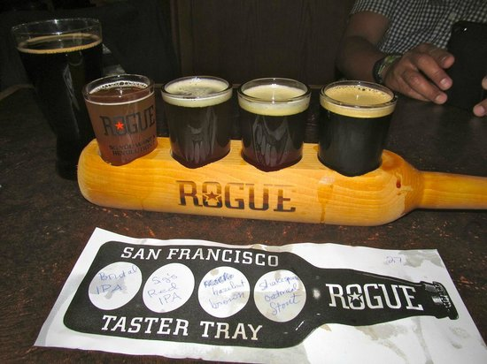 Rogue Ales Public House: Four tasters