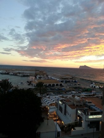 Hotel Porto Calpe: sunset from the balcony